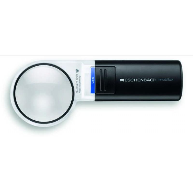 Лупа ручная асферическая со светодиодной подсветкой Eschenbach mobilux LED, диам. 58 мм, 5.0х (20.0 дптр)