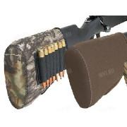 Неопреновый затыльник-амортизатор с ячейками на 7 винтовочных патронов (коричневый), AA&E
