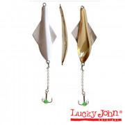 Блесна вертикальная зимняя Lucky John GLIDER с цеп. и тр. 10.0г GS блистер, 101-3-GS