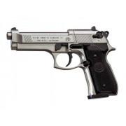 Пистолет пневм. Beretta M92 FS (никель с чёрн. пласт. накладками)