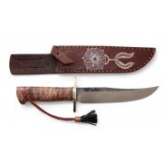 """Нож """"Боуи Горец"""", рукоять - стаб.карельская береза, клинок - К110"""