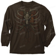 Толстовка BUCK WEAR Skull Cage, цвет коричневый