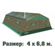 Палатка армейская двухслойная ТЕРМА 2М-47 (4.2х6.8, многофункциональные окна)