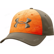Бейсболка UNDER ARMOUR, цвет хаки с оранжевой вставкой