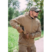 """Тактическая флисовая куртка с мембраной WindBlock GSG-8 """"Sentry-2"""", цвет - Coyot"""