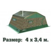Палатка армейская двухслойная ТЕРМА 2М-43 (4.2х3.4, многофункциональные окна)
