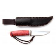 """Нож """"Барбус"""", рукоять - стаб.карельская береза, элфорин, """"скримшоу"""", клинок - Elmax"""