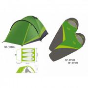 Комплект Norfin: палатка 3-х мест. PERCH 3 NF + 2 спальных мешка-одеяла SCANDIC