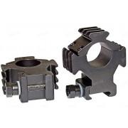 Небыстросъемные тактические кольца B-Square с тремя базами Weaver, 25.4 мм, BH=24 мм