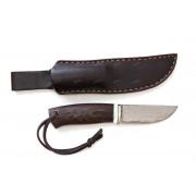 """Нож """"Барбус"""", рукоять - венге, элфорин, """"скримшоу"""", клинок - ламинат Vanadis 10"""