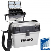Ящик рыболовный зимний Salmo 2-х ярус.(из 2-х частей) пласт. 38x24.5x29см сер., 2070