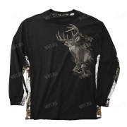 Толстовка BUCK WEAR Running Type Deer, цвет чёрный + камуфляж