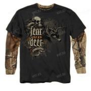 Толстовка BUCK WEAR Fear No Deer, цвет чёрный + камуфляж