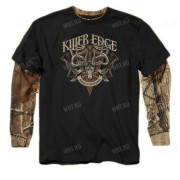 Толстовка BUCK WEAR Killer Edge, цвет чёрный + камуфляж