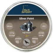 Пульки пневматические HN Silver Point, 5.5 мм, 1.11 г , 200шт
