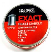 Пульки JSB Exact Beast калибр 4,52 мм вес 1,050 гр, 250 шт.