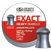 Пульки JSB Exact Heavy Diabolo калибр. 4,5 мм, вес 0,67 гр 500 шт.