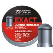 Пульки для пневматики JSB Exact Jumbo Monster кал. 5.52 мм., 1.645г., 200 шт.