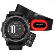 Навигатор-часы Garmin Fenix 3 Sapphire HR с черным ремешком HRM-Run