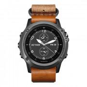 Навигатор-часы Garmin Fenix 3 Sapphire серые с кожаным ремешком