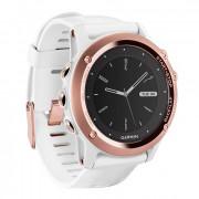 Навигатор-часы Garmin Fenix 3 Sapphire золотые c белым ремешком