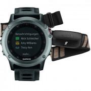 Навигатор-часы Garmin Fenix 3 серые с черным ремешком и пульсометром HRM-Run