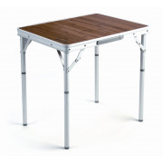 3839 Bamboo table  стол скл. Бамбук, алюм