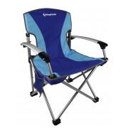 3841 Delux Arms Chair blue   кресло скл. cталь