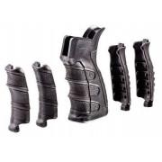 Рукоять CAA пистолетная для AR-систем (AR15/M4), 6 накладок (3 под пальцы +3 под ладонь), полимер/резина, черный, 116гр.